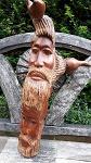 Holz Stamm iron bark Aborig Gesichtern 55c