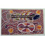 orig Malerei auf Leinen 41x70cm