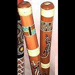 Didgeridoo Bambus bunt bemalt, tiefer Sound