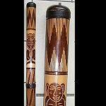 Didgeridoo Bambus,  beschnitzt