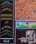 3er Set Aufkleber Aborigines Malerei