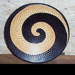 Ton Teller Schale+ Aborigines Malerei 28cm
