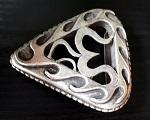 Gürtelschnalle Metall 8cm