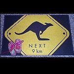 Fußmatte Roadsign Känguru 40x70cm