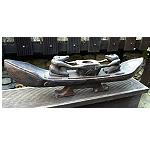 Holz ASMAT Figur Teelicht Boot 50cm