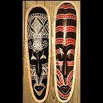 Holz Masken handbemalt 50cm