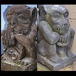 Masiv Steinfigur Gargoyle 60 cm