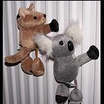 Magnet Bommel Koala oder Känguru
