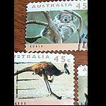 2er Briefmarken Set Koala und Känguru