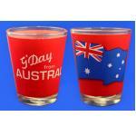 1 Pinnchen Schnapsglas Australien Fahne
