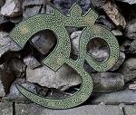 26cm Messing Om Wand Symbol feng shui Ohm