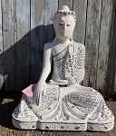 Buddha aus Holz weiß 70 cm