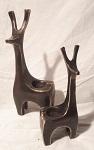 Giraffe Kernzenhalter Bronze 2-er Set