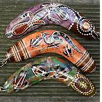 Schlüsselanhänger Bumerang handbemalt