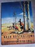 Metall Schild Känguru Outback 39cm