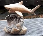 Riff Hai Shark aus Holz Treibholz 15cm