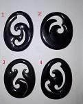 Maori Horn Carving Hook  4cm