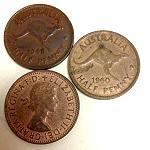 alter Half Penny mit Känguru 1943-1955