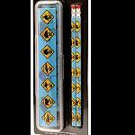 Lineal Radierer Stifte Set Straßenschilder
