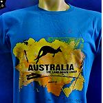 T Shirt ..the land down under...blue color