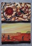 2er Set Postkarte XL mit Malerei