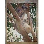 Poster Leinen Druck Koala 40x30cm