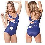 Badeanzug  mit  Australien Flagge 36-38
