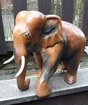 28cm Elefant Afrika Holz handgeschnitz