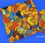 4x Platz Decke Aborigines Malerei 36x36cm