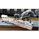 Elefant aus Afrika Holz handgeschnitz 40cm