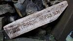 Holzschild Zaunlatte Australia 13..km 40cm