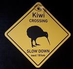 Schild Kiwi 12x12 cm Neuseeland +Napf