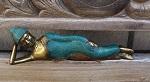 Buddha liegend Bronze antik 23cm