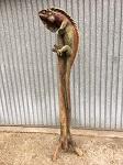 Leguan am einem Baumstamm 1,85-2 meter