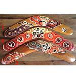 Deko Holz- Bumerang bunte Farben 40cm