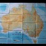 Land - Karte Australien, gesamt 100x87 cm
