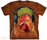 T Shirt Hühner Dj Musik Rastafari Reagge