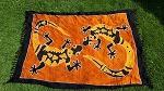 Sarong Tuch handbemalt, Gecko 160cm