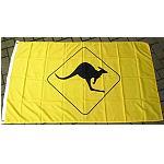 Flagge Fahne gelb Känguru Schild 150cm