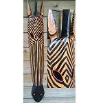 Holz Maske Zebra Afrika 1m 2.Wahl
