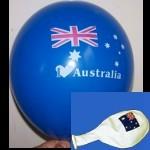 Luftballon mit Flaggenmotiv