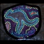 Aufnäher Aborigines Malerei Känguru