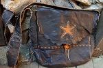 Traveller Schulter Leder Tasche -the Star-