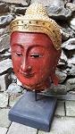 Holz Buddha Kopf Thailand 40cm