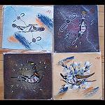Malerei Aborigines, auf Leinenstoff 24 cm