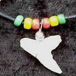 Haifisch Zahn + Lederband und Perlen