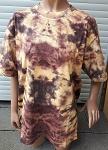 T-Shirt dickes braunes Batik gelblich brau