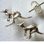 Ohrringe Ohrstecker Känguru 925 silber