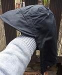 Kapuze aus Waxcooton für Jacke u Mantel