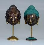 Buddhamaske auf Ständer Bronze 11 cm